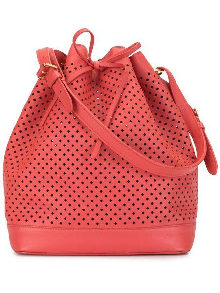 Сумка на плечо красная винтажная Louis Vuitton