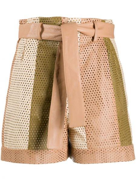 Кожаные шорты с карманами с отворотом Drome