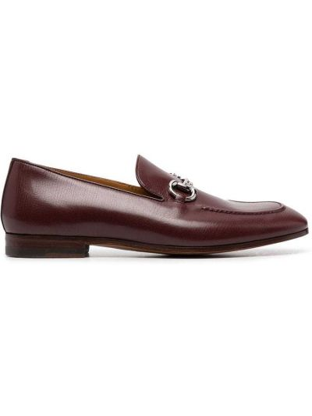 Loafers skorzane kaskadowe na obcasie Gucci