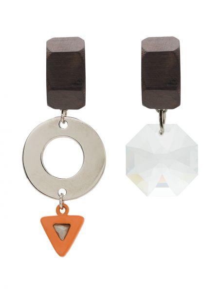 Коричневые серьги с подвесками с бабочкой Osklen