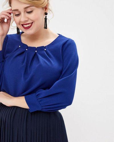 Блузка с длинным рукавом синяя Grafinia