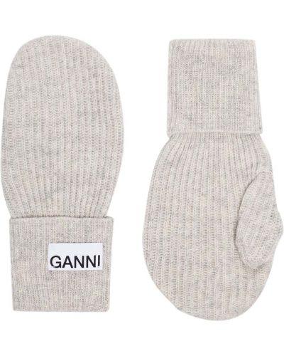 Wełniany rękawiczki z mankietami z łatami Ganni