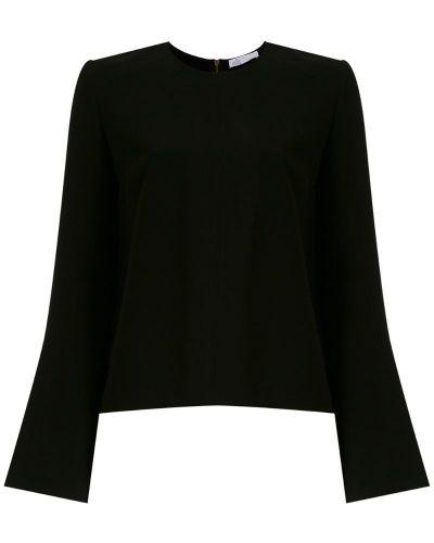 Блузка с длинным рукавом с широкими рукавами на молнии НК