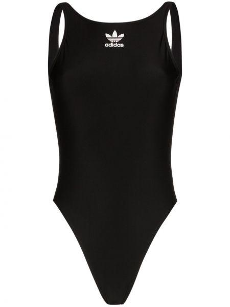 Купальник черный с логотипом Adidas