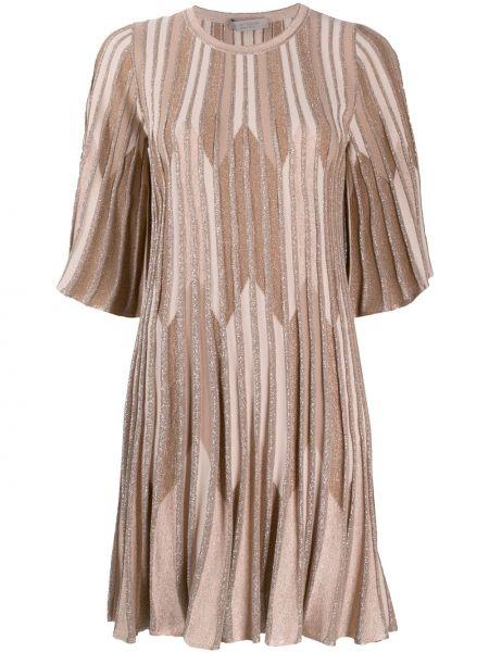 С рукавами розовое платье мини с люрексом D.exterior
