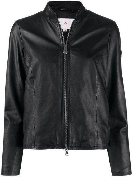 Прямая черная длинная куртка Peuterey
