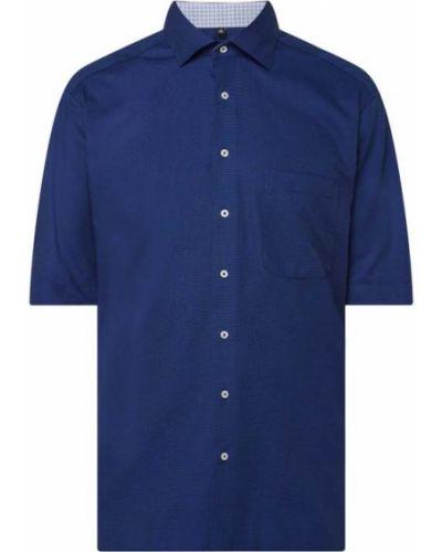 Niebieska koszula krótki rękaw bawełniana Eterna