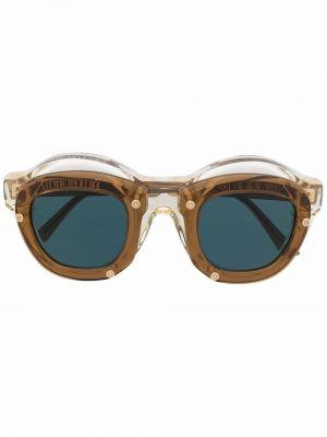Солнцезащитные очки с логотипом - коричневые Kuboraum