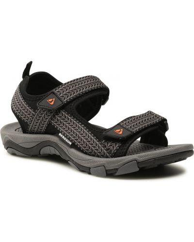 Szare klasyczne sandały Bergson
