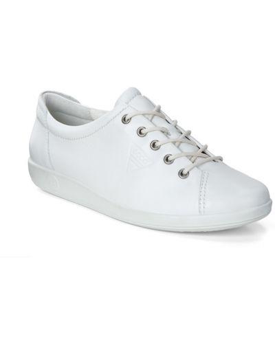 Кеды белые на шнуровке Ecco