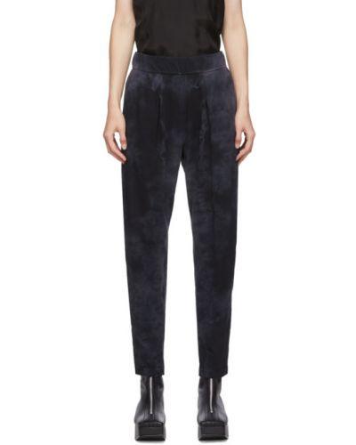 Ватные хлопковые черные брюки с карманами Raquel Allegra