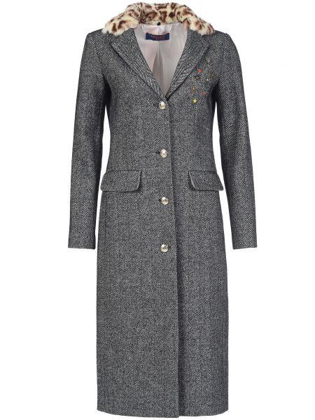 Шерстяное пальто с капюшоном Trussardi Jeans