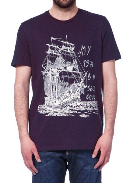Хлопковая футболка - фиолетовая Marina Yachting
