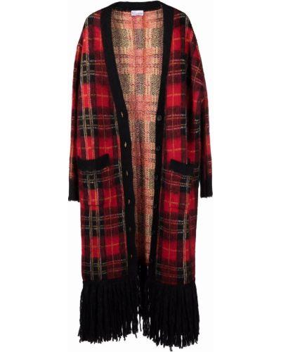 Шерстяное пальто - красное Red Valentino