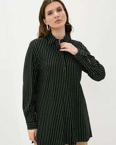 Черная блузка с длинными рукавами Elena Miro