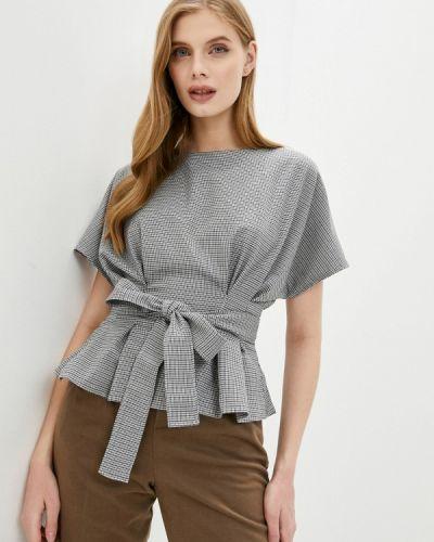 Серая с рукавами блузка Hey Look