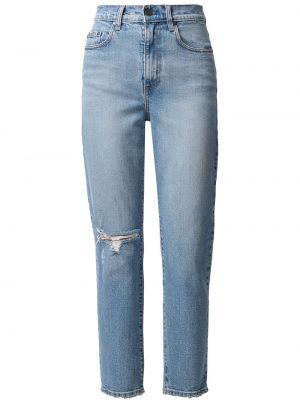 Синие прямые джинсы классические на пуговицах Nobody Denim