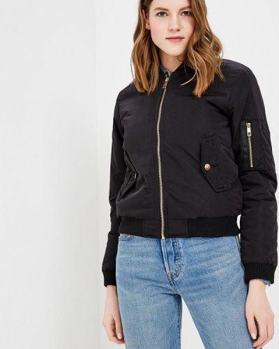 Утепленная куртка весенняя черная Fascinate
