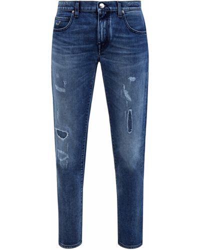 Синие свободные прямые джинсы с вышивкой свободного кроя Jacob Cohen