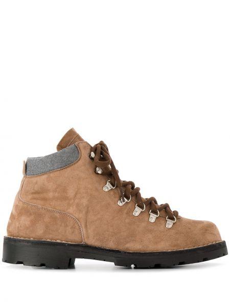 Коричневые сапоги на шнуровке Andrea Ventura