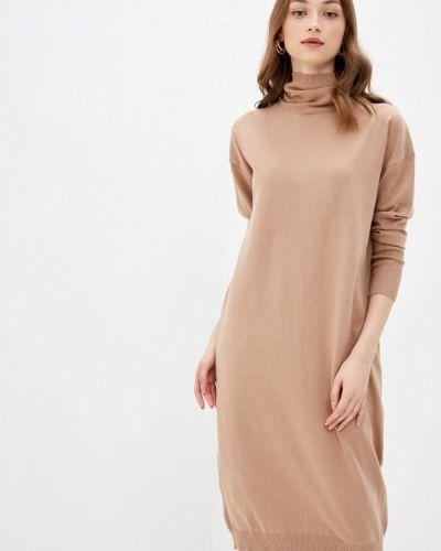 Повседневное бежевое платье Vilatte
