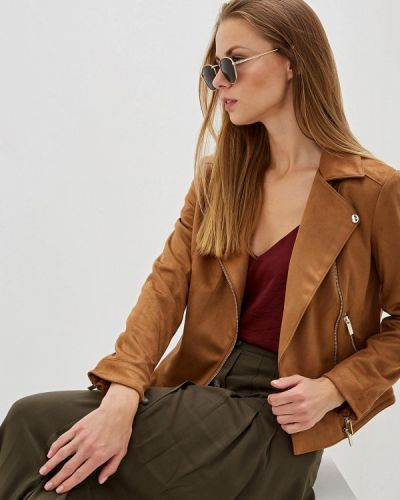 Кожаная куртка осенняя коричневая Dorothy Perkins