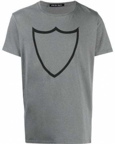 Prążkowany t-shirt bawełniany krótki rękaw Htc Los Angeles