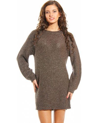 Платье из альпаки - коричневое Armani Jeans