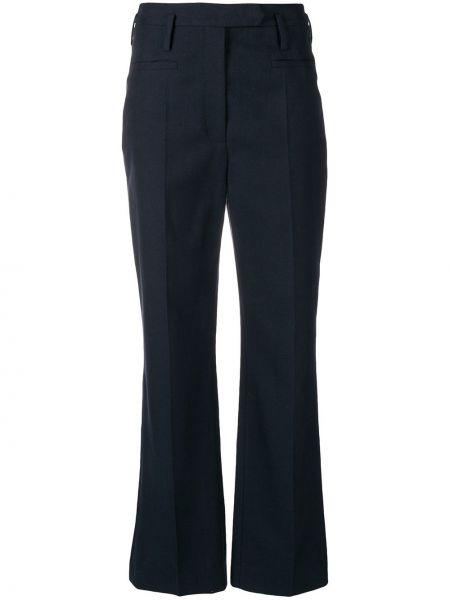 С завышенной талией шерстяные синие брюки Nehera