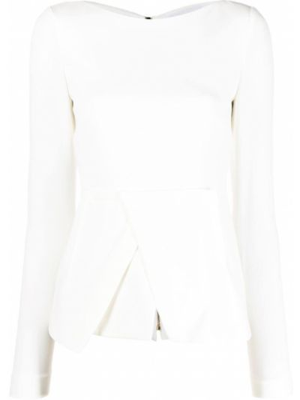Biała bluzka z jedwabiu Roland Mouret