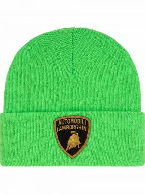 Zielona czapka z haftem Supreme