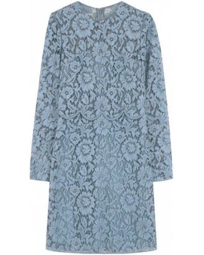 Платье мини с цветочным принтом из вискозы Valentino