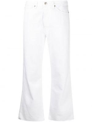 Расклешенные белые джинсы на молнии 3x1