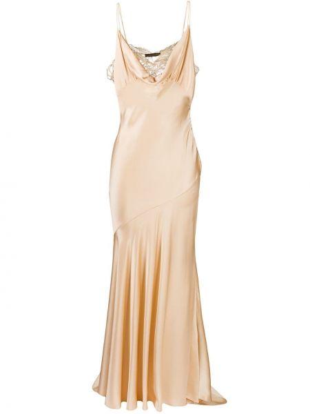 Шелковое кружевное платье без рукавов Roberto Cavalli