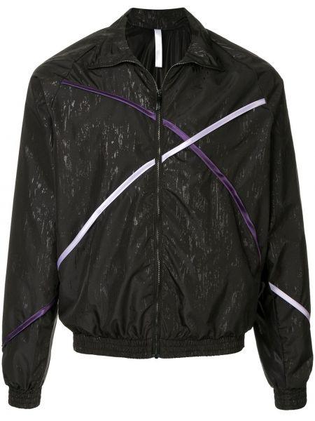 Klasyczna czarna długa kurtka z długimi rękawami Cottweiler