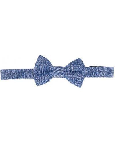 Хлопковый синий галстук-бабочка с бабочкой Harmont & Blaine Junior
