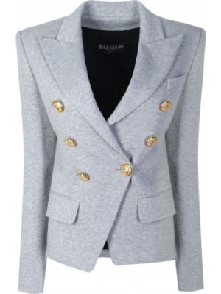 Пиджак на пуговицах - серый Balmain