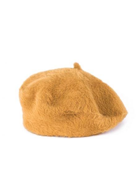 Żółty beret materiałowy Art Of Polo