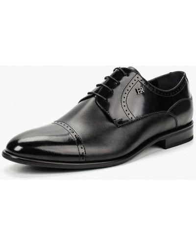 Туфли черные итальянские El'rosso