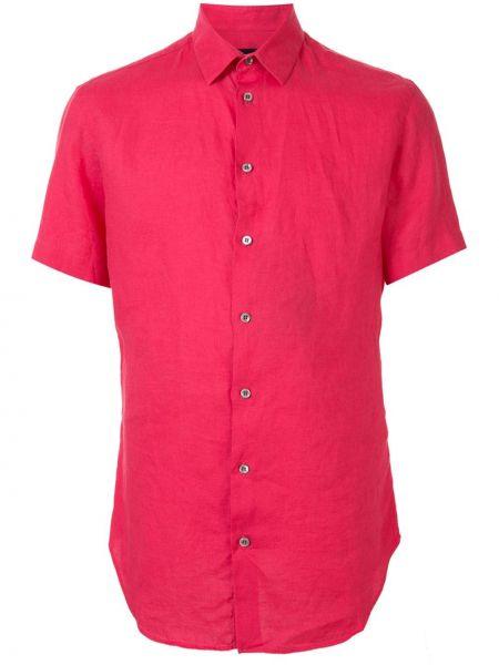 Koszula krótkie z krótkim rękawem klasyczna wyposażone Giorgio Armani