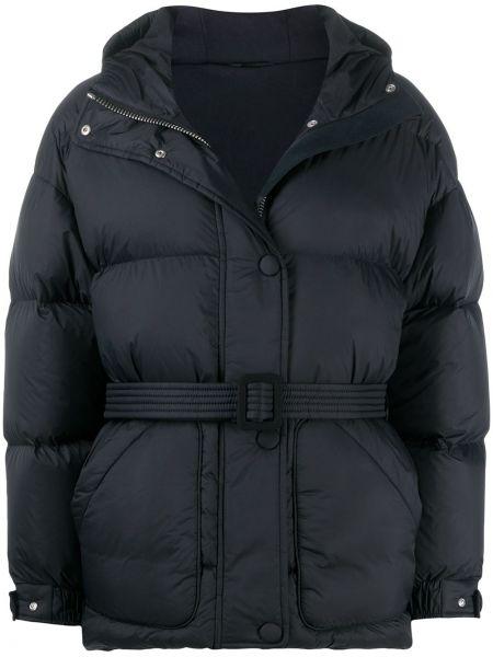 Классическая черная стеганая куртка на кнопках с карманами Ienki Ienki