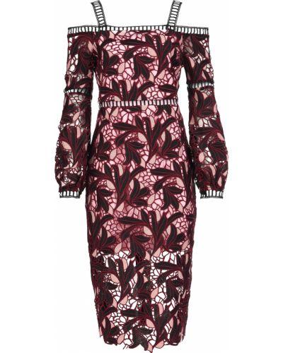 Платье из полиэстера - бордовое Elliatt