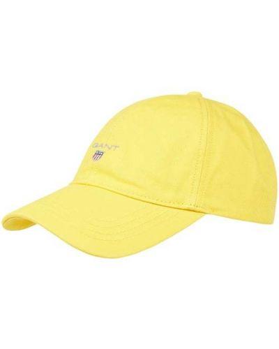Żółty kaszkiet bawełniany Gant