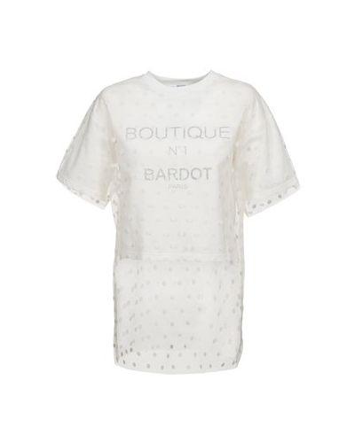 Bluza z kapturem biały Brigitte Bardot