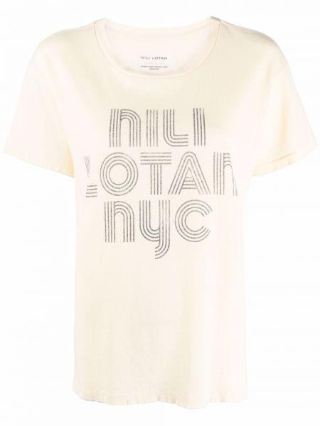 Синяя футболка короткая Nili Lotan