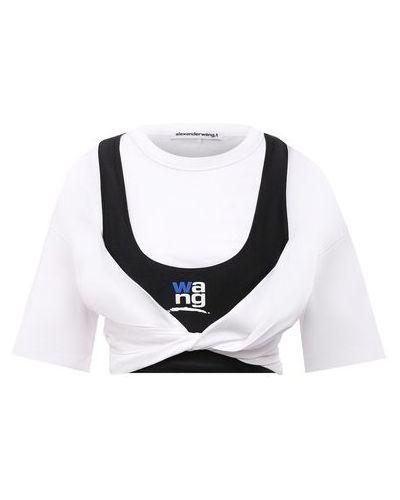 Белая футболка из эластана Alexanderwang.t