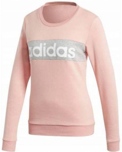 Szary dres bawełniany z długimi rękawami Adidas