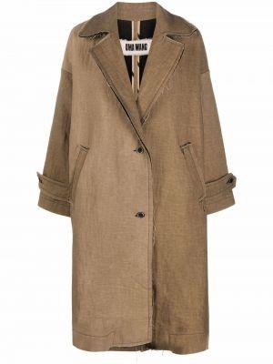 Коричневое хлопковое пальто Uma Wang