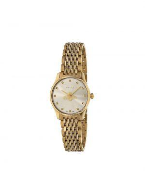 Żółty złoty zegarek Gucci