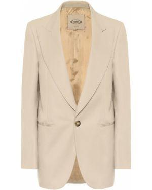 Однобортный пиджак из габардина Tod's
